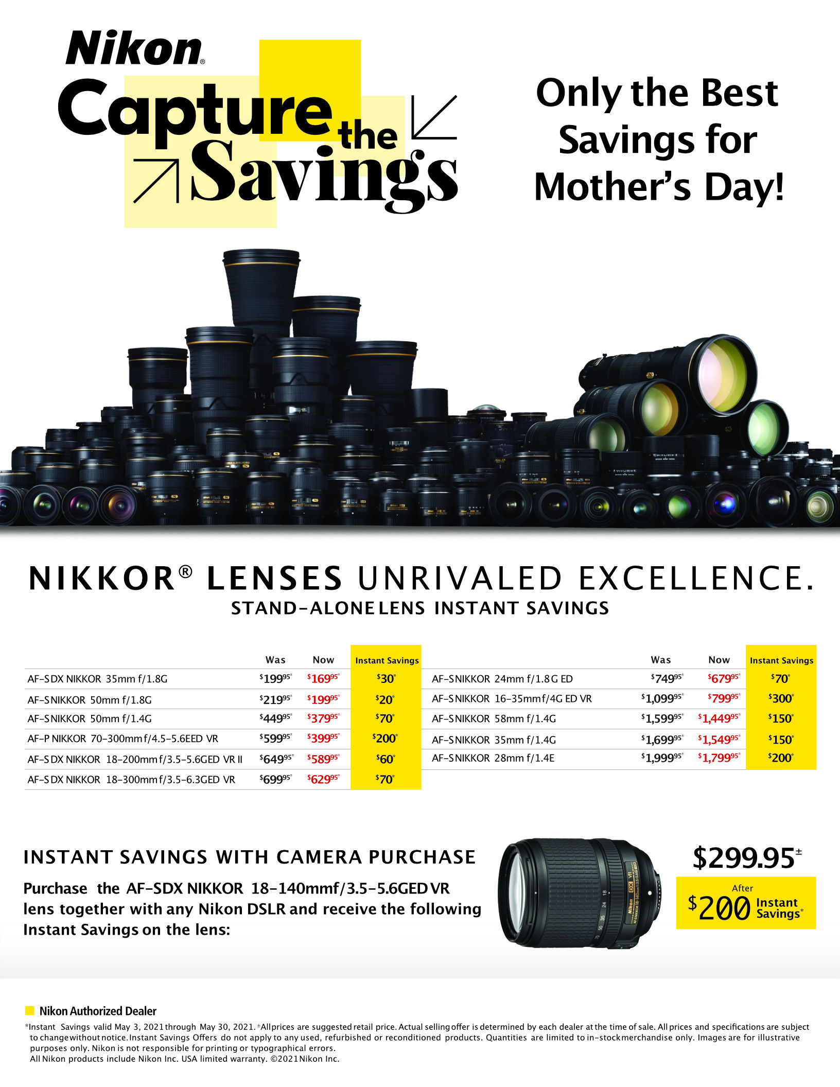 Nikon Lenses Deal